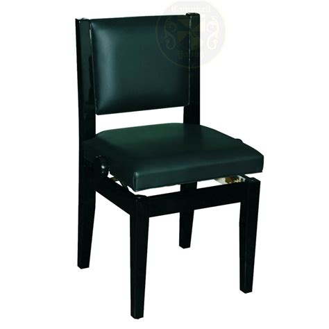 chair 1c pe adjustable piano bench with back support