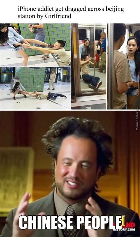 Chinese Girl Meme - meanwhile in china a man drags a girl into a train by