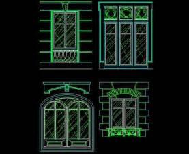 Home window european retro window cad atlas