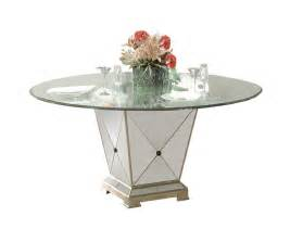 Borghese Round Dining Table Antique Mirror Amp Silver Leaf