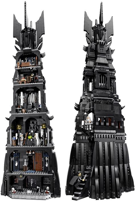 tutorial lego lord of the rings lego lord of the rings tower of orthanc set lego lord