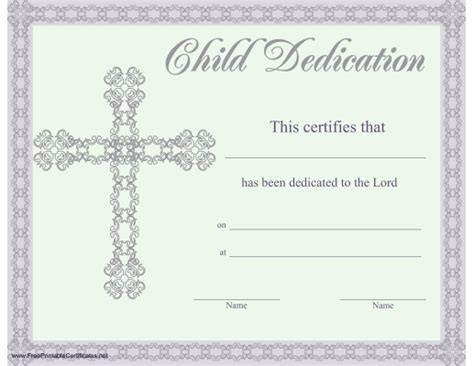 dedication certificate template pin free baby dedication certificate templates this is