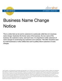 Change Of Name Letter Template by Best Photos Of Personal Name Change Letter Business Name