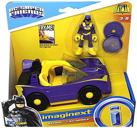 imaginext batmobile with lights batgirl batmobile with purple light up headlights