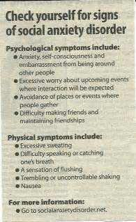 Signs for social anxiety disorder ptsd pinterest