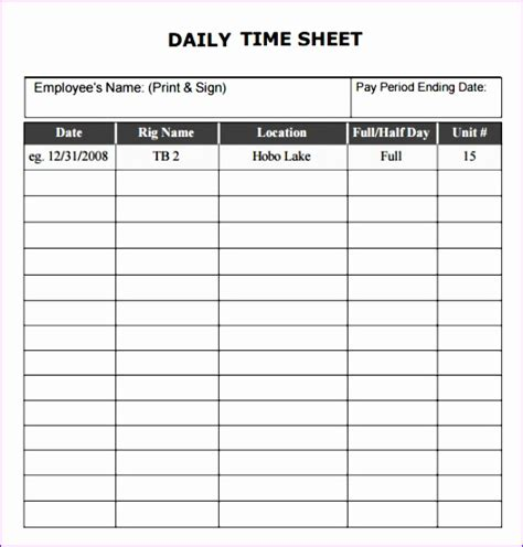 Formsfroms Daily Time Card Template by 5 Excel Time Card Template Exceltemplates Exceltemplates