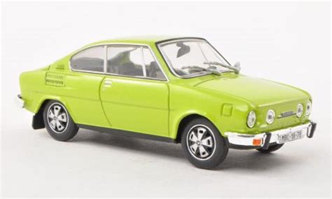 skoda 110 r green abrex diecast model car 1 43 buy sell