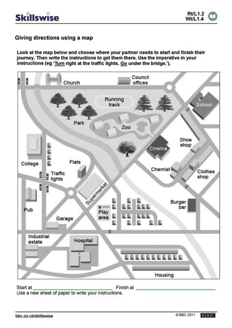 free printable giving directions worksheets 70 best images about esl directions city road signs means