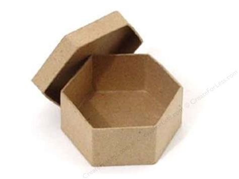 Craft Paper Boxes - paper mache mini hexagon box by craft pedlars 36 pieces