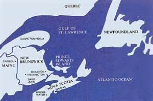 map of eastern canada and scotia the saints in canada s maritime provinces ensign june