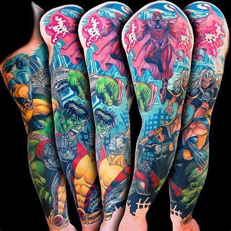 fantasy sleeve tattoo designs comics on sleeve