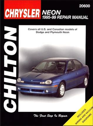 best car repair manuals 1995 plymouth acclaim seat position control dodge neon plymouth neon repair manual 1995 1999 chilton 20600