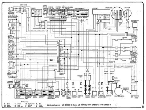 complete circuit diagram complete electrical wiring diagram of 1978 honda cx500