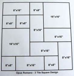 3 size opus romano pattern tile molds make 100s of slip resistant tiles 0 28 sf ebay