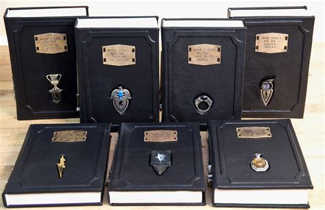 the of harry potter books these leatherbound harry potter books come with horcrux