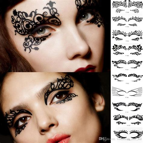 henna eyeliner tattoo fashion eyeliner makeup artistic creativity eye stickers