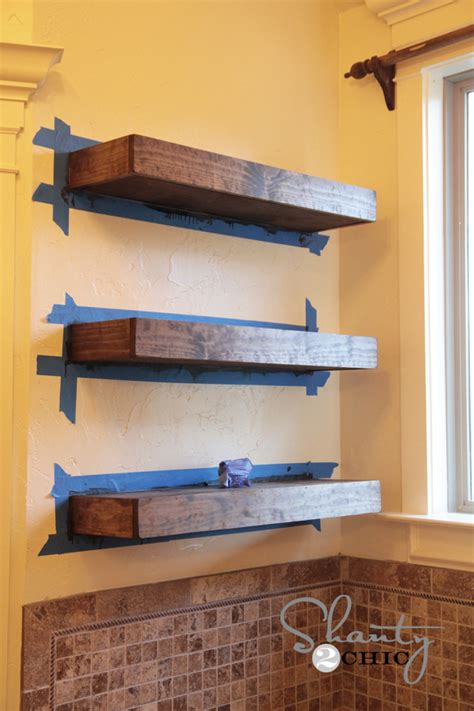 make a white floating shelf furnitureplans
