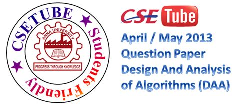 design and analysis of algorithms question bank with answers cse cs2251 cs41 cs1251 10144 cs402 080230013