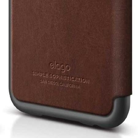 elago leather flip case for iphone 6 metallic grey and brown