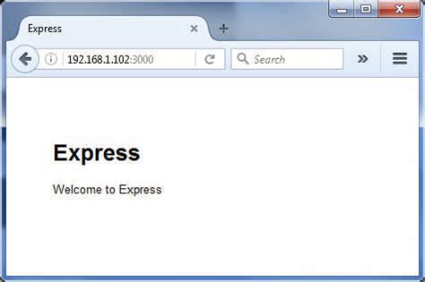 node js express generator tutorial kll engineering work blog