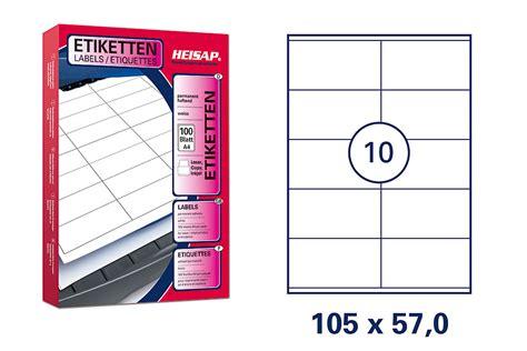 Etiketten Drucken 105 X 57 by Heisap Hei 022 Drucker Etiketten 105 X 57mm Wei 223 Universal