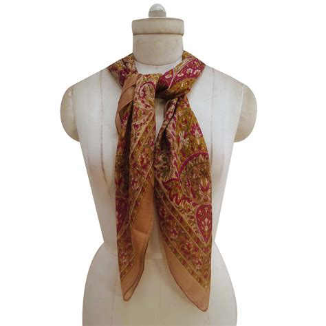 new floral silk scarf fashion neck shawl