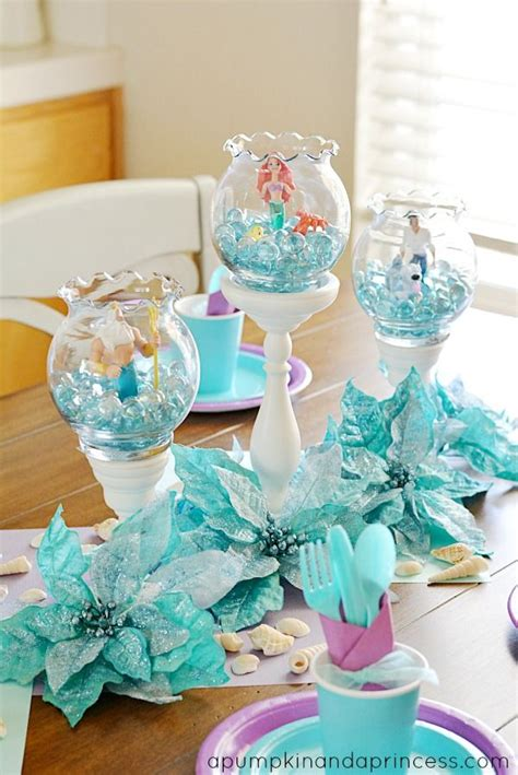 would like to make a small table centerpiece for christmas the mermaid lil mermaid mermaid mermaid