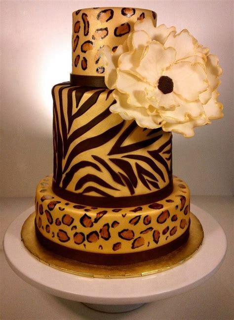 leopard birthday cake zebra and leopard print cake cakecentral com