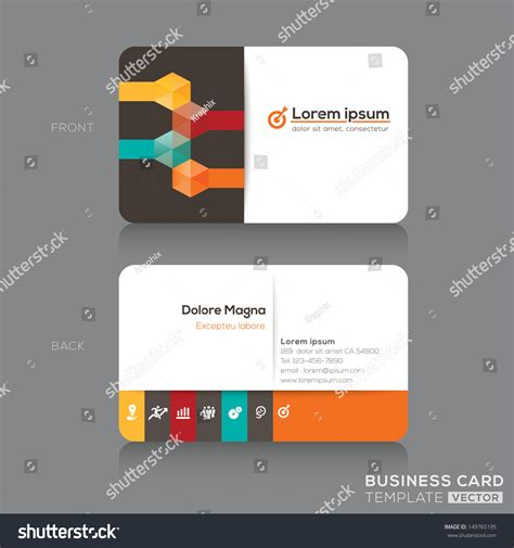 trendy business cards templates trendy isometric business cards design vector stock vector