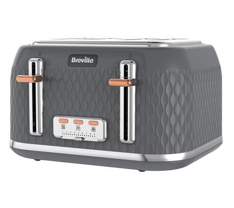 Breville The Smart Toaster Buy Breville Curve Vtt912 4 Slice Toaster Granite Grey