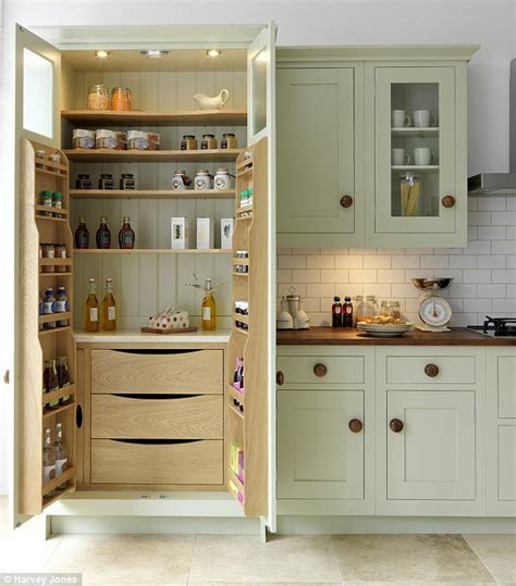 kitchen storage furniture ideas smarten up your kitchen storage with a fancy pantry daily mail