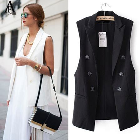 Piyama Wanita Unicorn Navy blazer vest womens trendy clothes