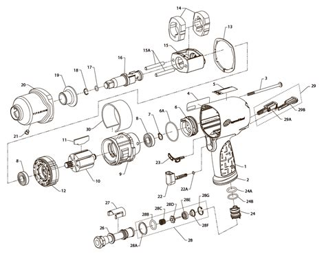 ingersoll rand parts diagram ingersoll rand 2131 replacement parts engine diagram and