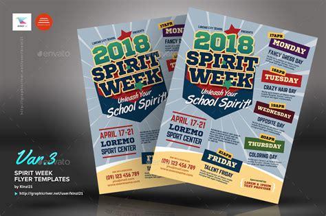 Spirit Week Flyer Templates By Kinzi21 Graphicriver Free Spirit Week Flyer Template