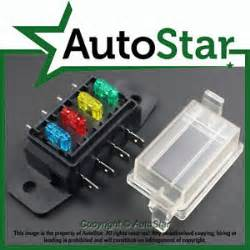 4 way mini blade fuse box holder atm apm circuit motorbike bike trike 12v ebay
