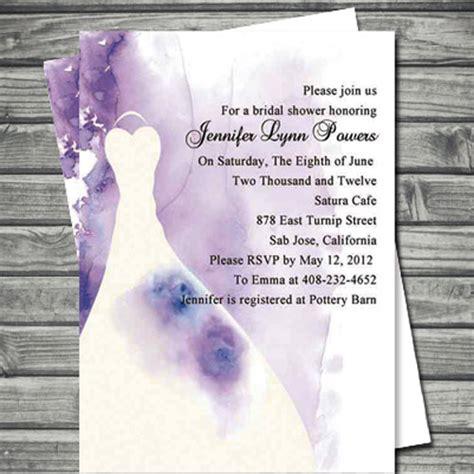 discount printable bridal shower invitations elegant wedding dress purple invitations for bridal shower