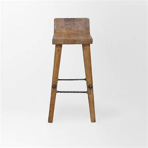 wood top bar stools hewn wood bar stool counter stool west elm