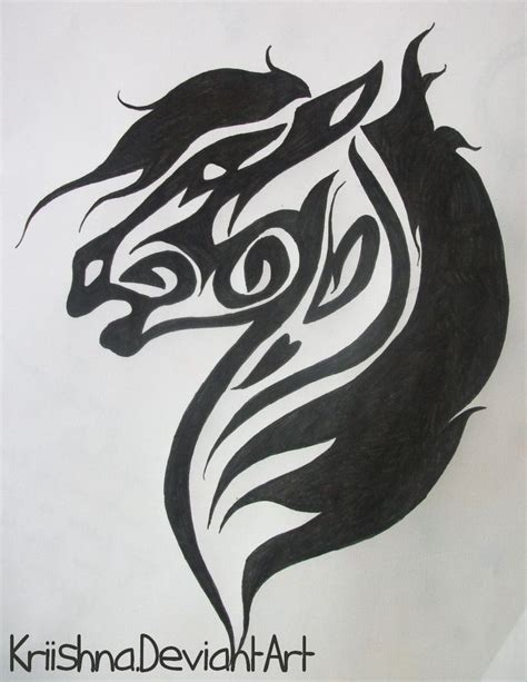 tribal horse tattoo 214 best tattoos images on horses
