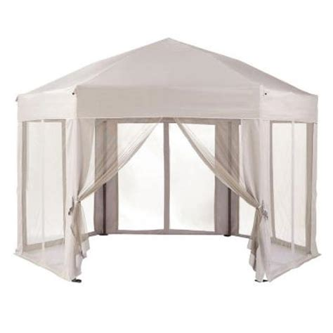 home decorators collection hexagonal 7 ft x 11 ft gazebo