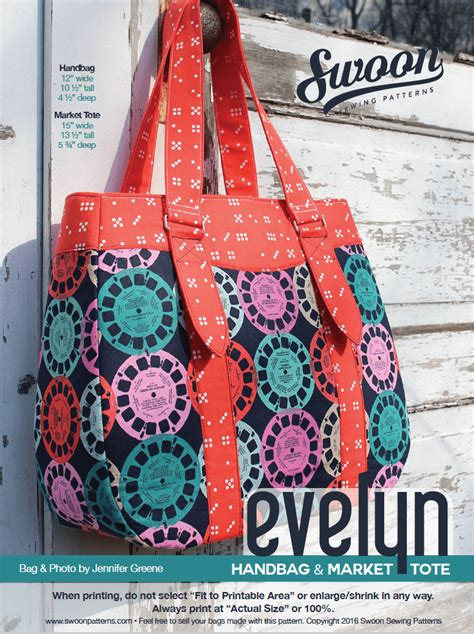 downloadable tote bag pattern evelyn handbag market tote swoon sewing patterns