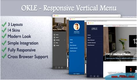 responsive design vertical menu vertical responsive menu okle download css navigation menus