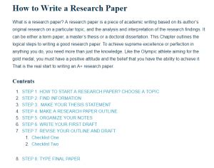 write  research paper  research guide  students