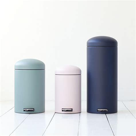 modern bathroom trash can matte pastel powder coat metal trash can litter bin waste