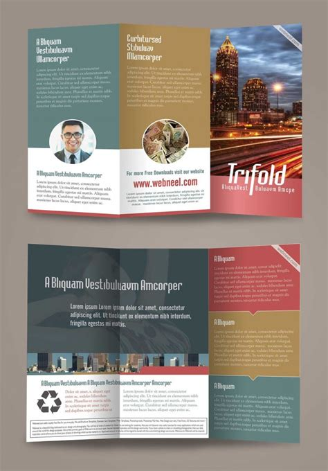 15 Free Corporate Bifold And Trifold Brochure Templates Free Download Now Brochure Design Templates Free