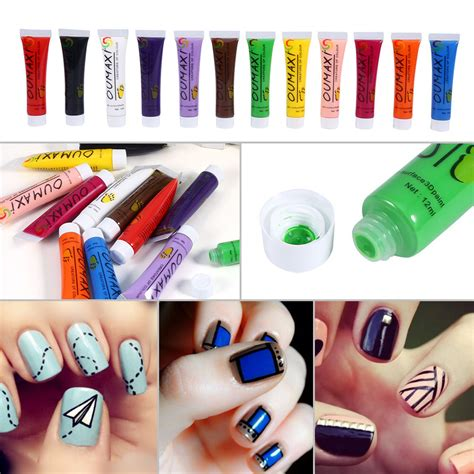 tripleclicks 12 colors acrylic paint nail uv gel 3d painting
