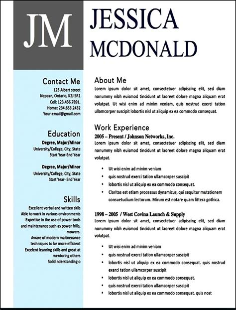 contemporary resume templates free word free modern resume templates microsoft word free sles exles format resume