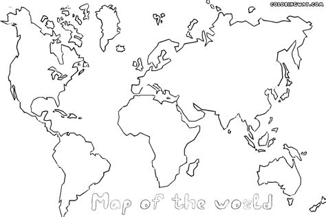 coloring page world map world map coloring pages coloring pages to and