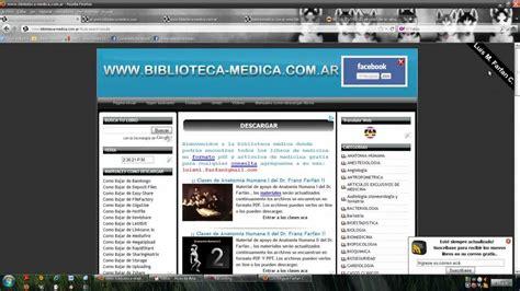 descarga de libros de medicina pdf libros de medicina en formato pdf y articulos gratis www biblioteca medica com ar youtube