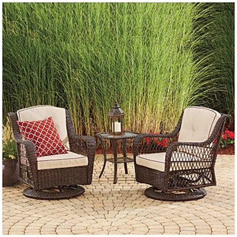 wilson fisher 174 barcelona 3 piece resin wicker glider