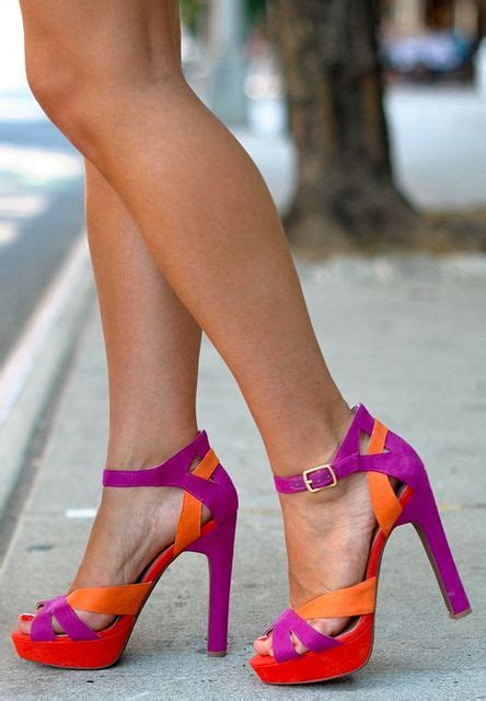 High Heels Wadges Lol 486 by Best 25 Colorful Heels Ideas On Thick Heels